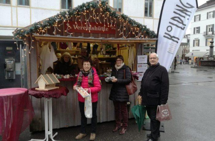 Kolping-Stand beim Weihnachtsmarkt