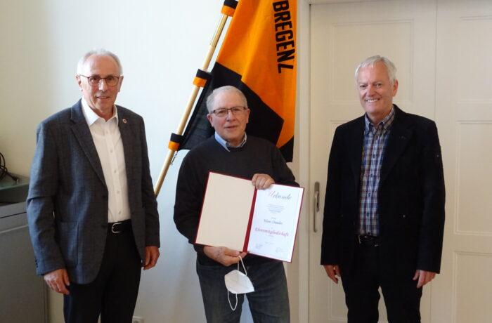 Klaus Stauder – Ehrenmitglied von Kolping Bregenz